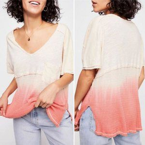 Free People Sun Dial T Shirt Tee Ombre Top XS